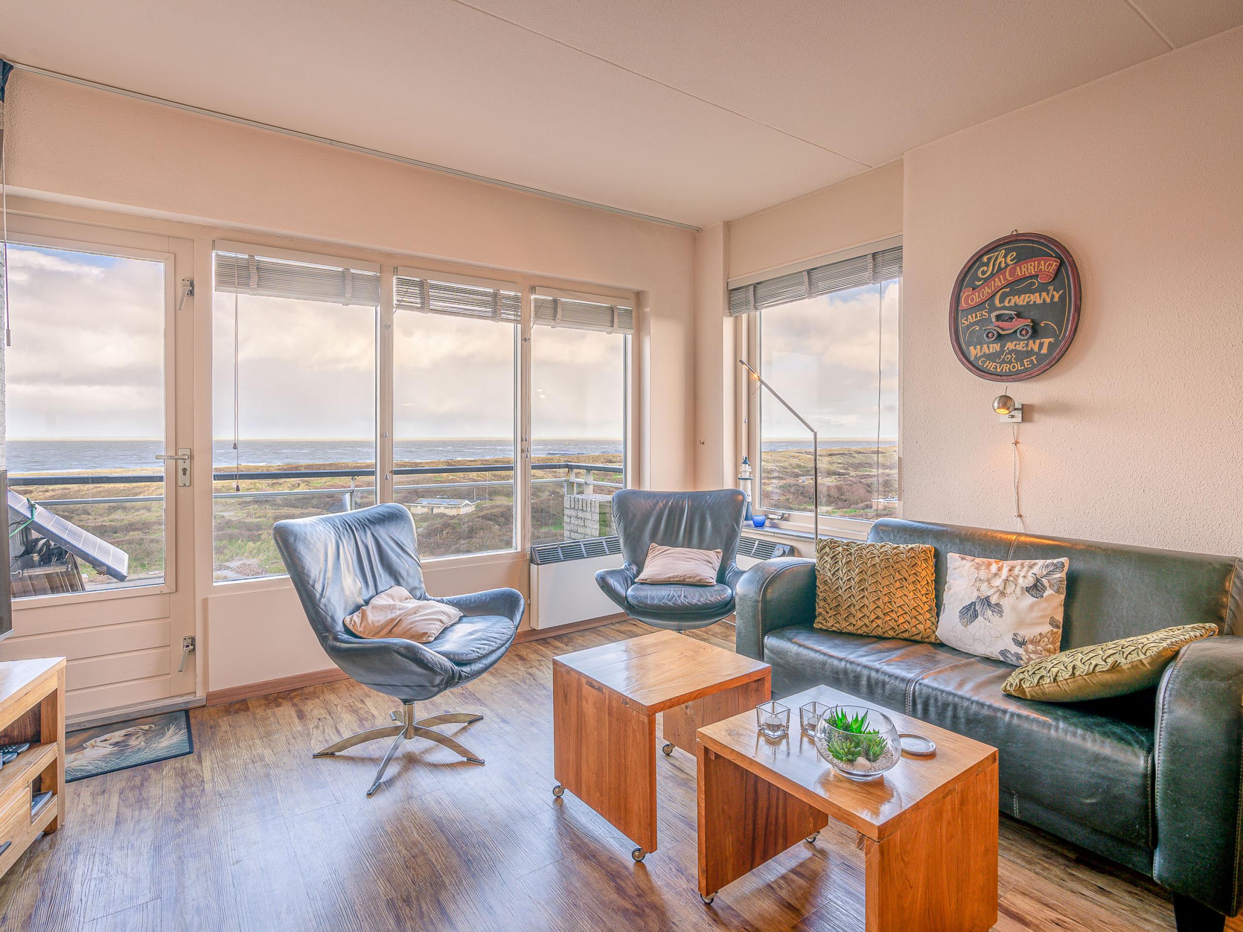 Vlakbij De Koog gelegen appartement met uitzicht over Noordzee