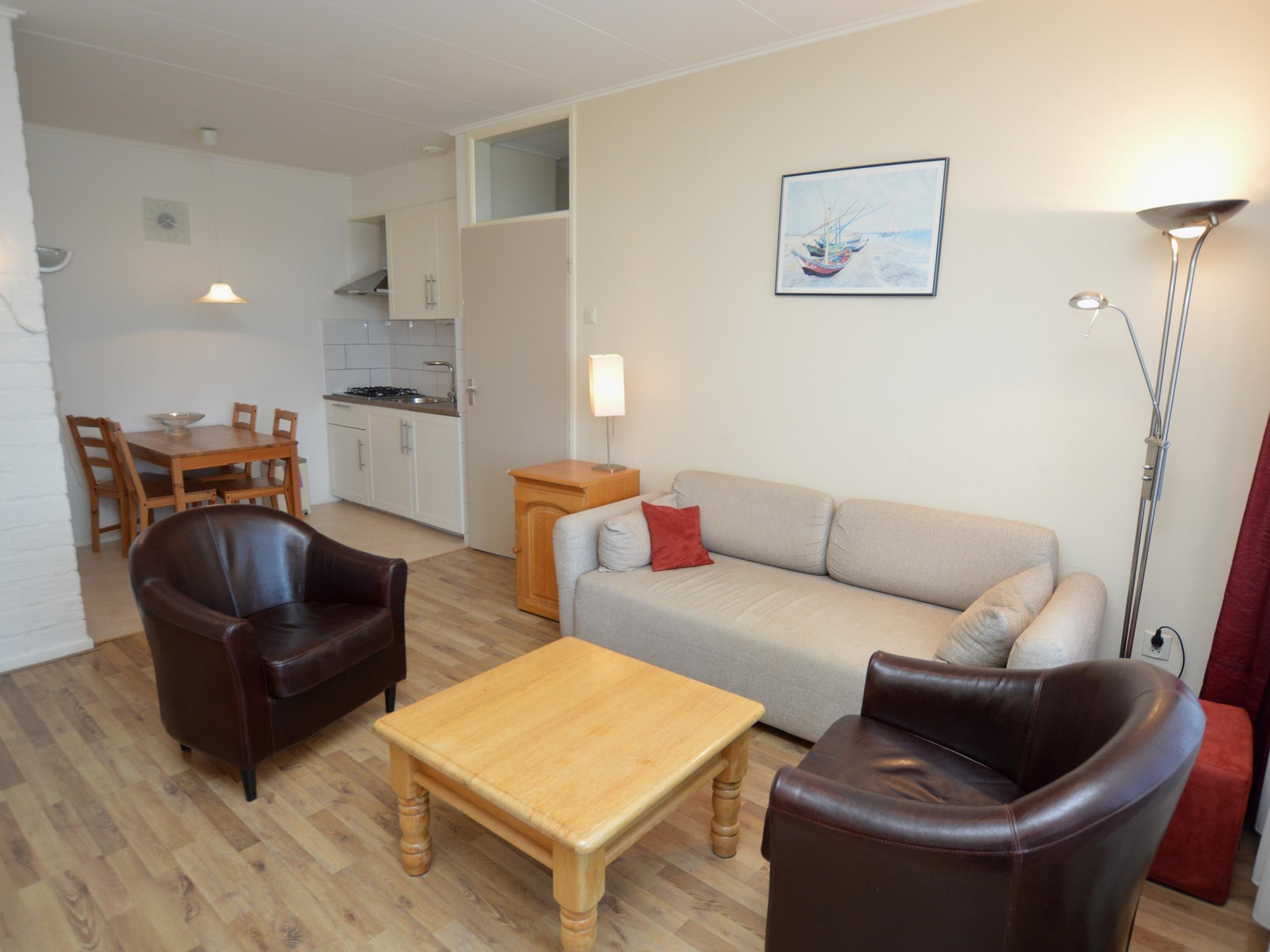 Rustig gelegen appartement met terras dichtbij de Koog.