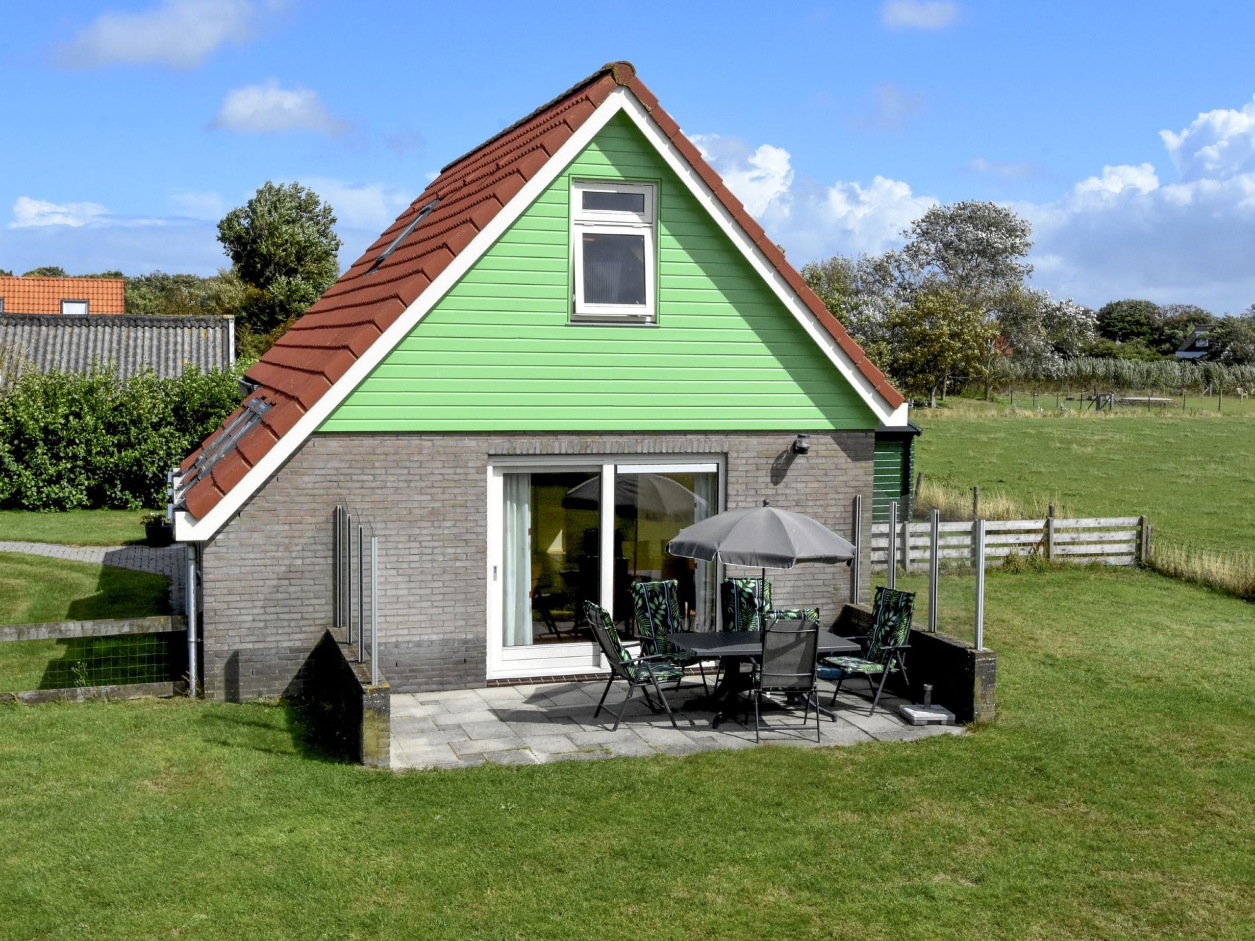 Comfortabele sfeervol vakantiehuis met landelijk uitzicht over Eierland