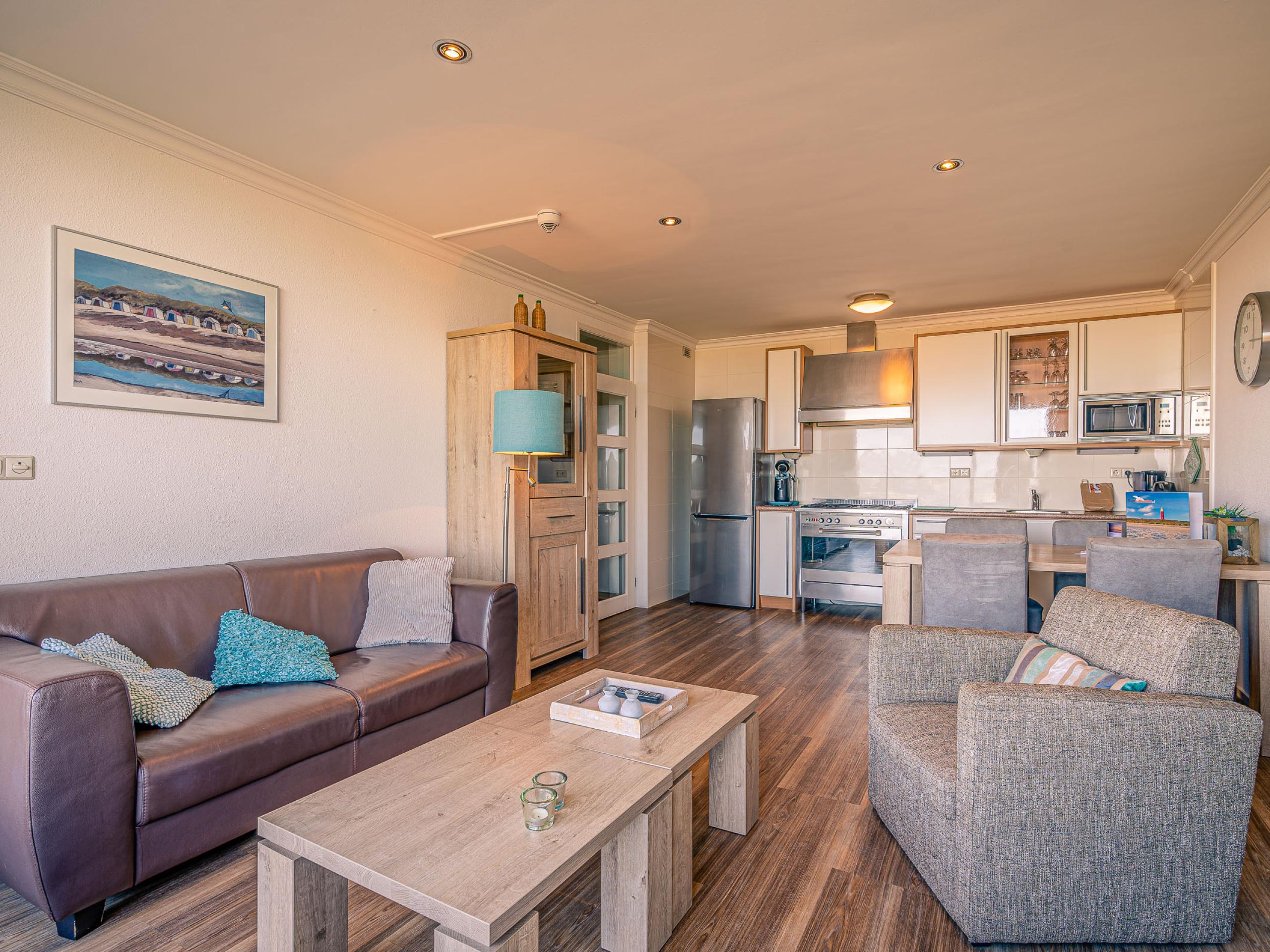 Appartement bei de Koog mit einzigartiger Aussicht über das Meer