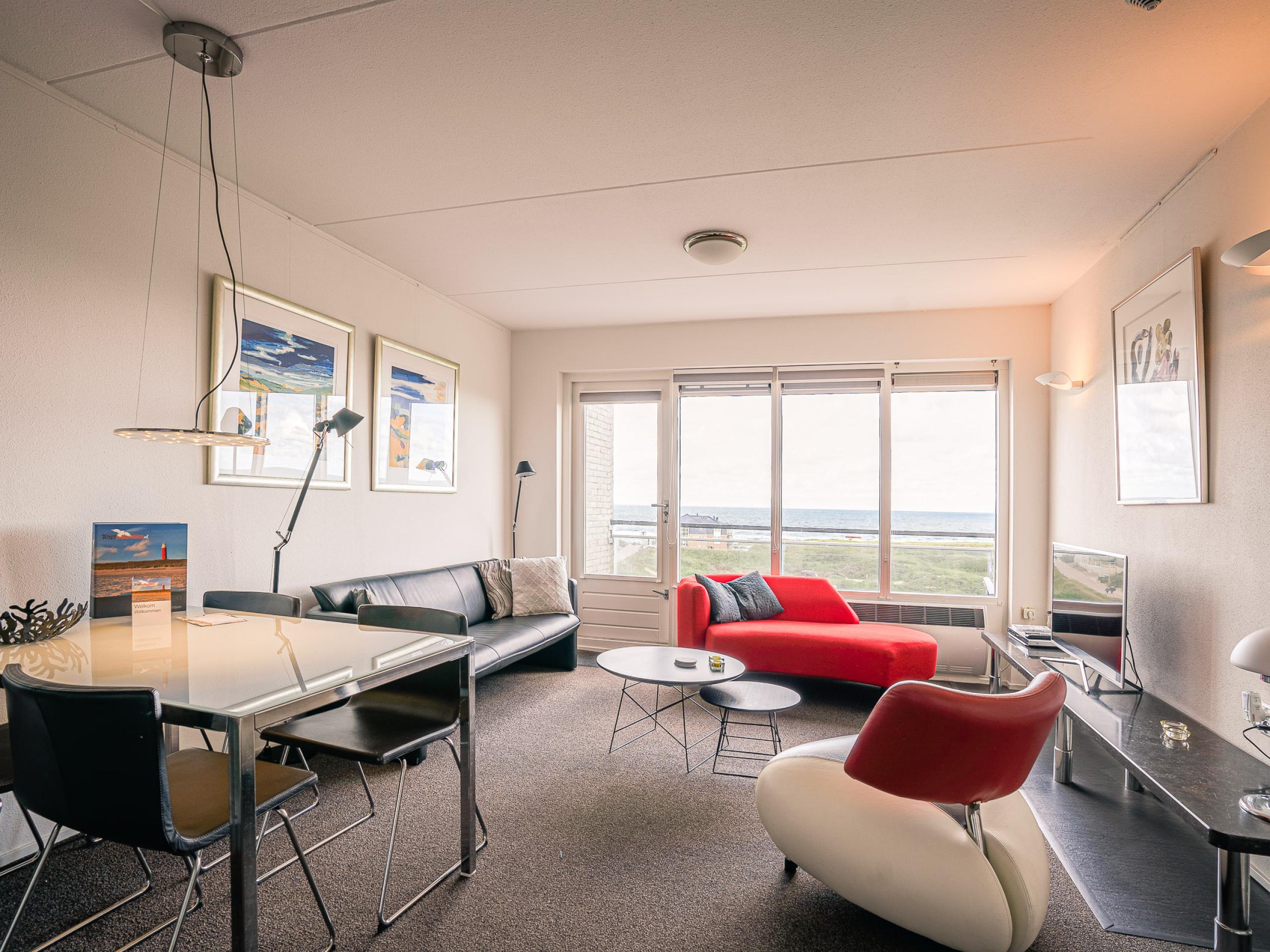 Rookvrij appartement nabij De Koog met uitzicht over zee