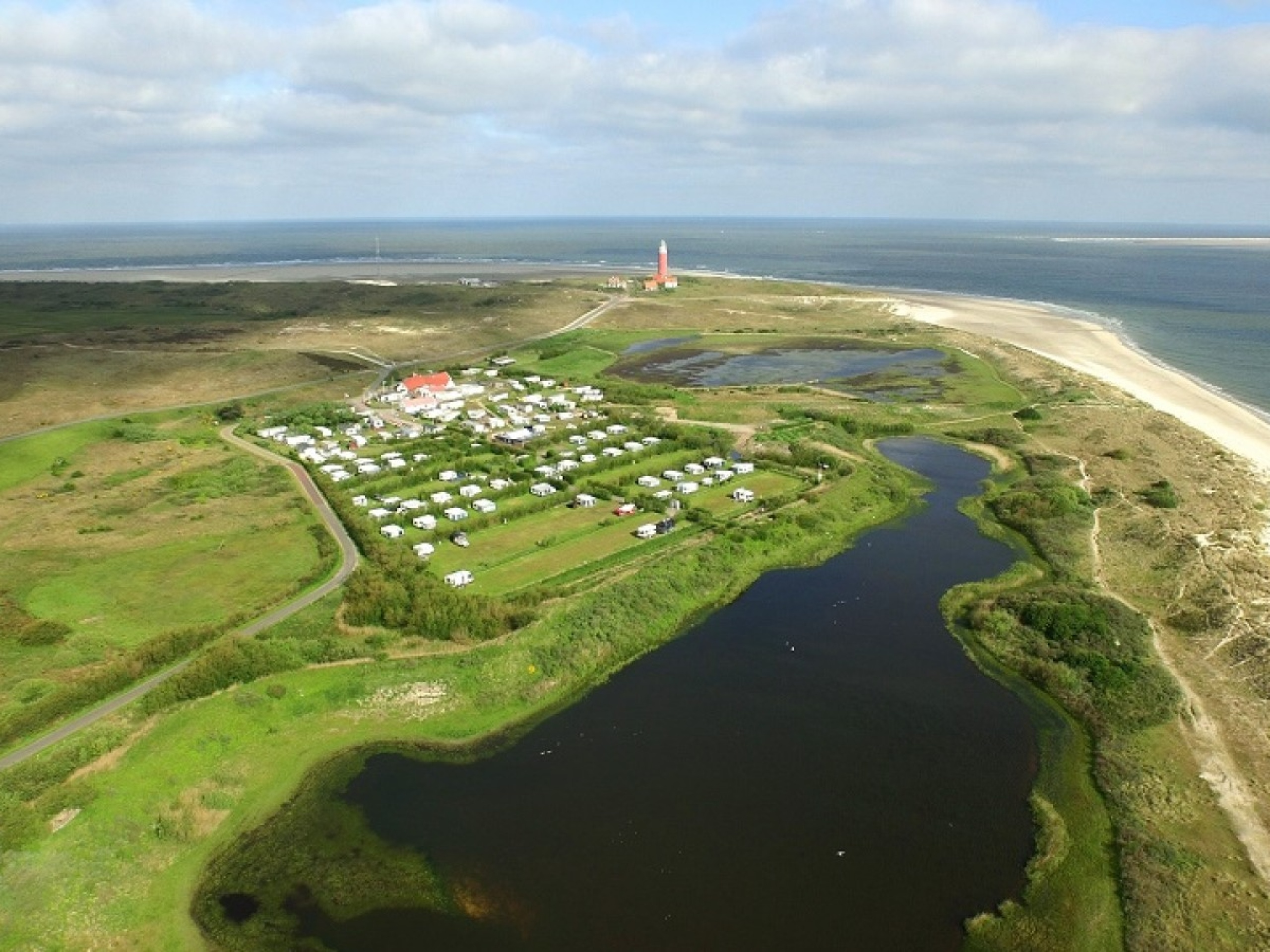 Delicious camping in the dunes near the lighthouse and De Cocksdorp