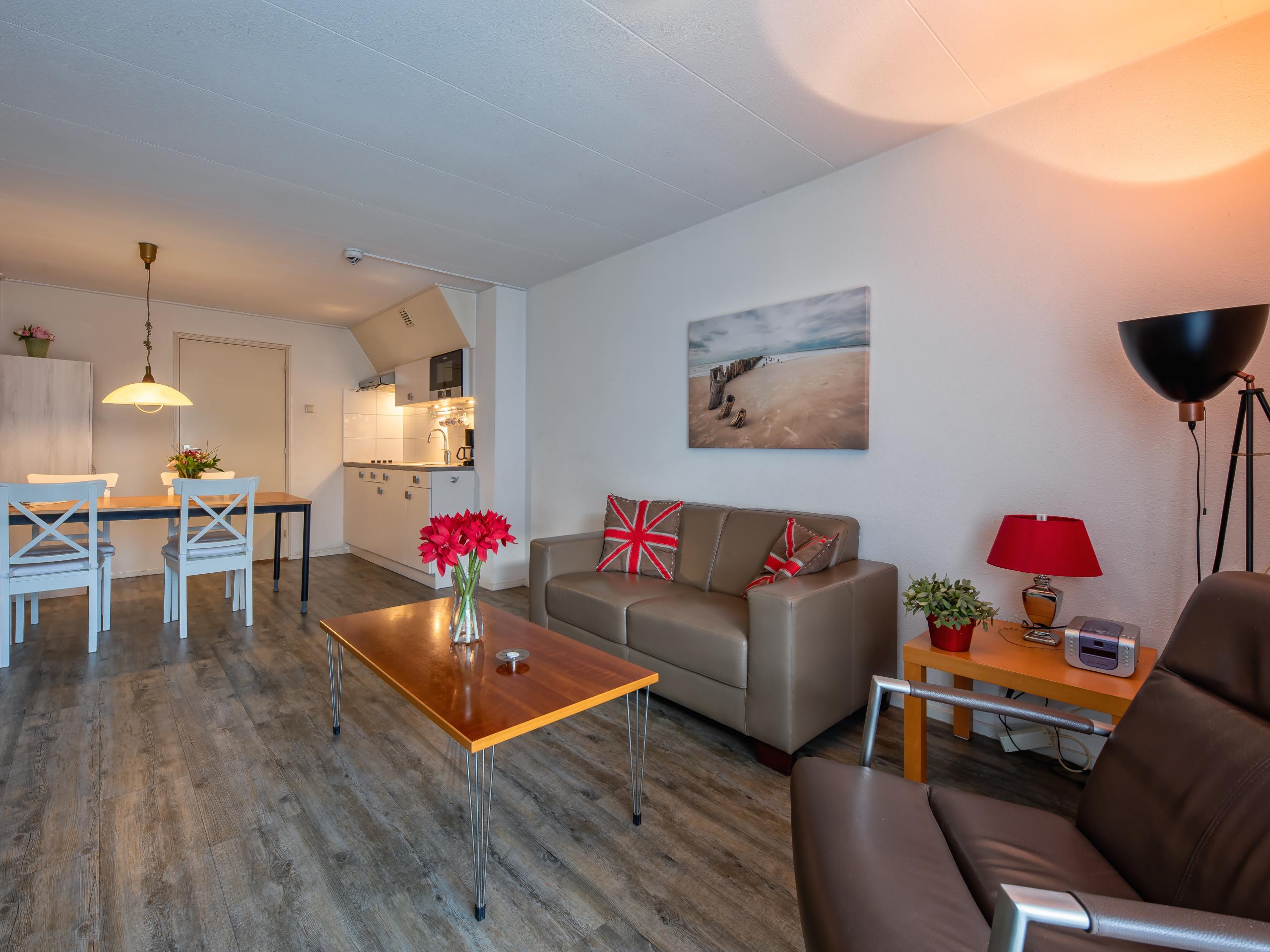 Appartement nabij het strand (300m) en centrum van De Koog