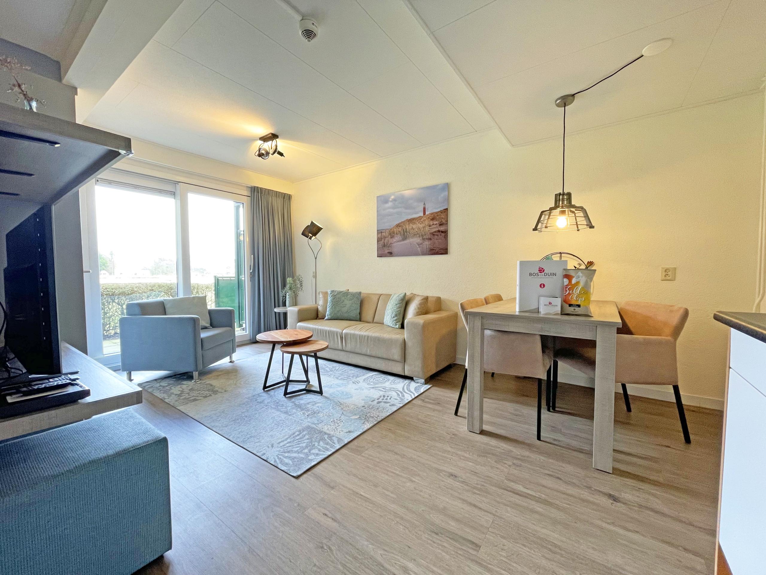 Niet ver van het strand gelegen appartement in groene omgeving