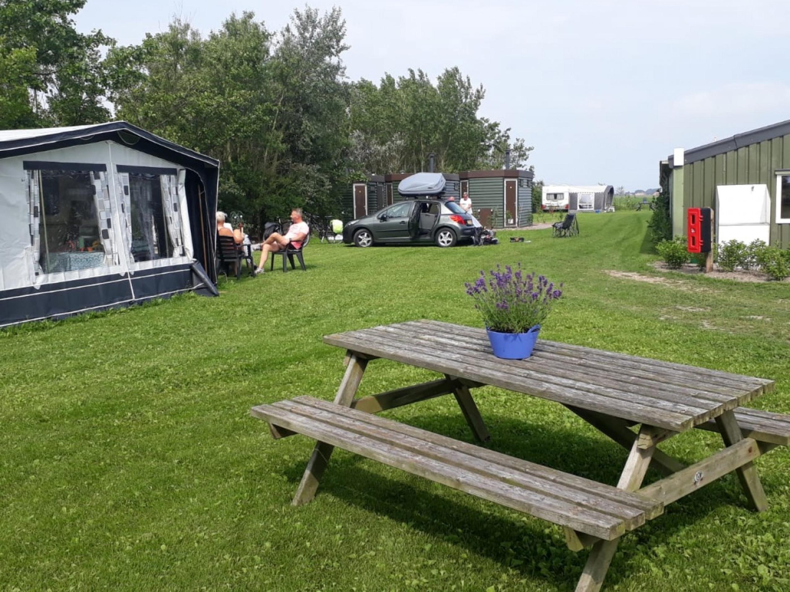 Kleinschalige en gemoedelijke camping met privésanitair