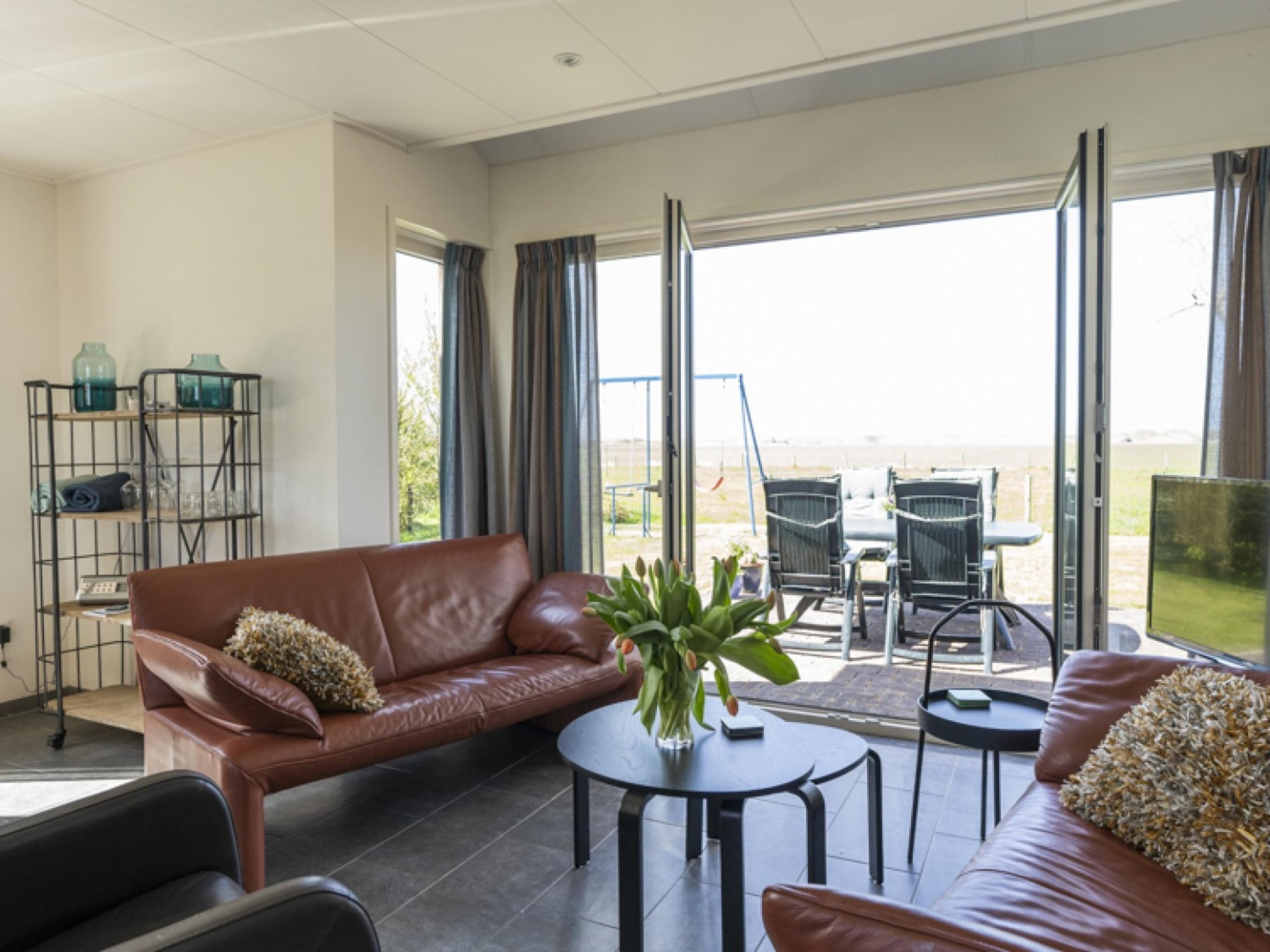 Komfortables freistehendes Ferienhaus in Süd-Eierland mit freiem Blick über die Wiesen bis zum Muy