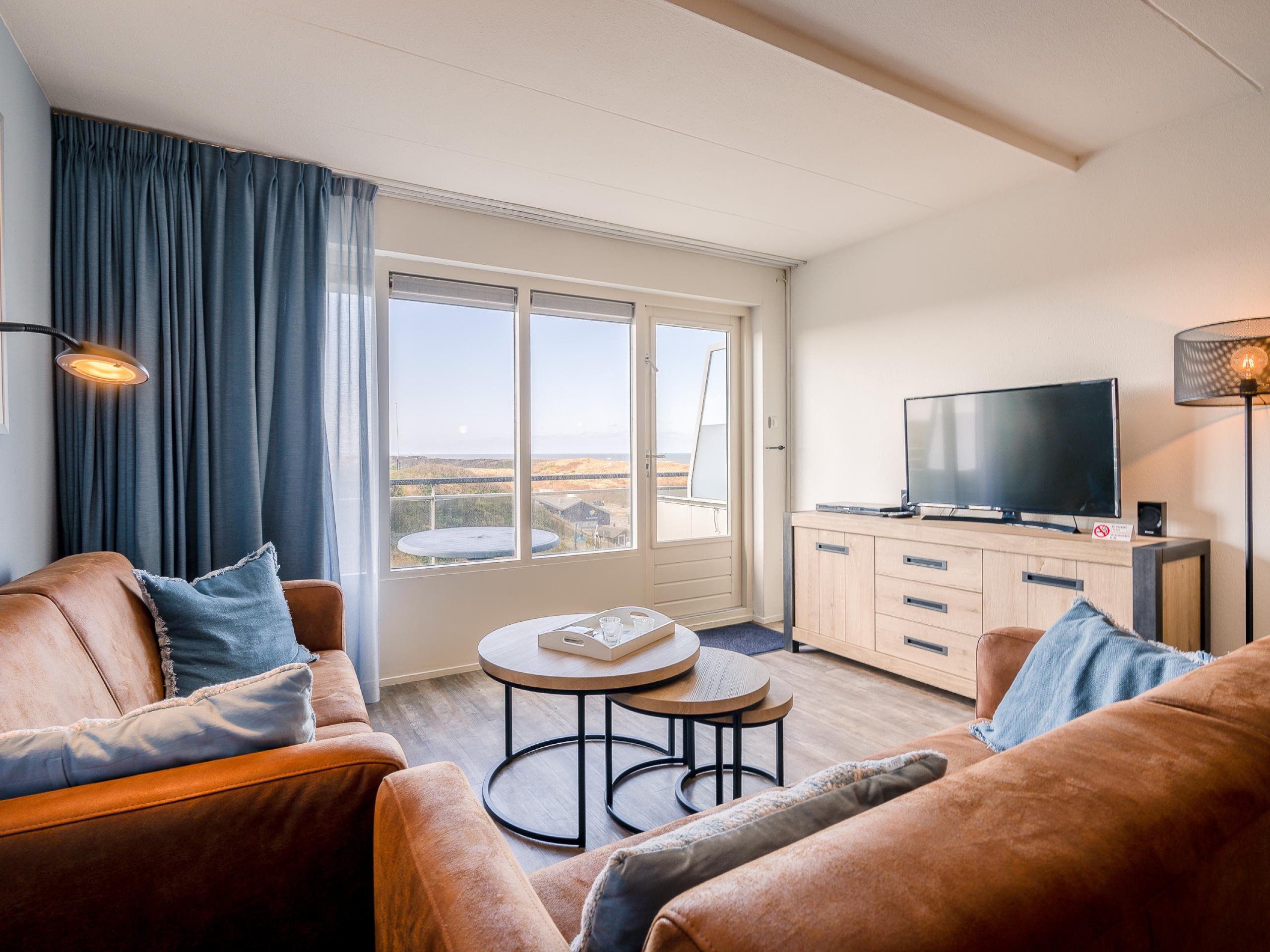 Nettes Appartement bei De Koog mit Aussicht über die Dünen