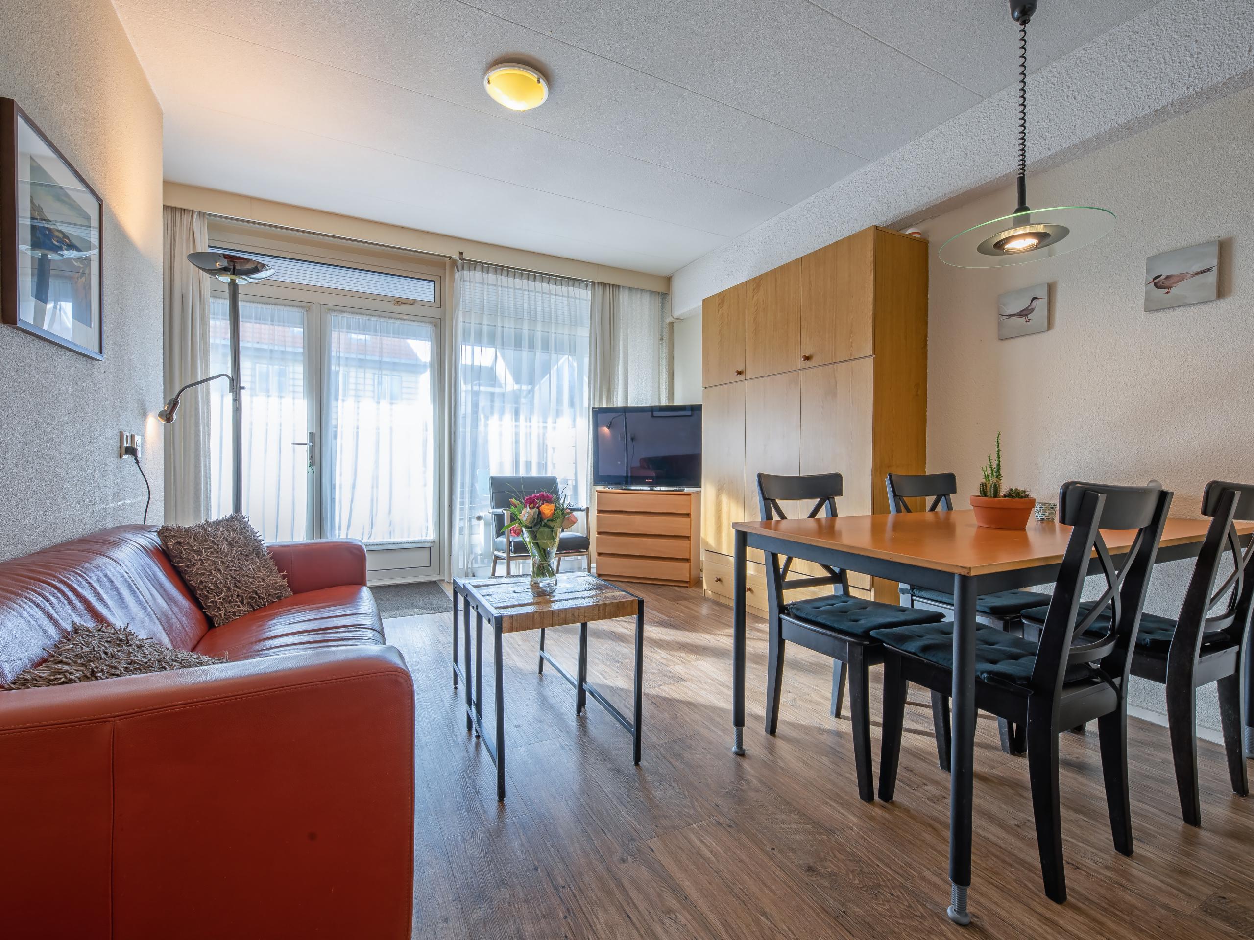 Fijn appartement met whirlpool en terras op het zuiden aan de rand van het centrum van De Koog