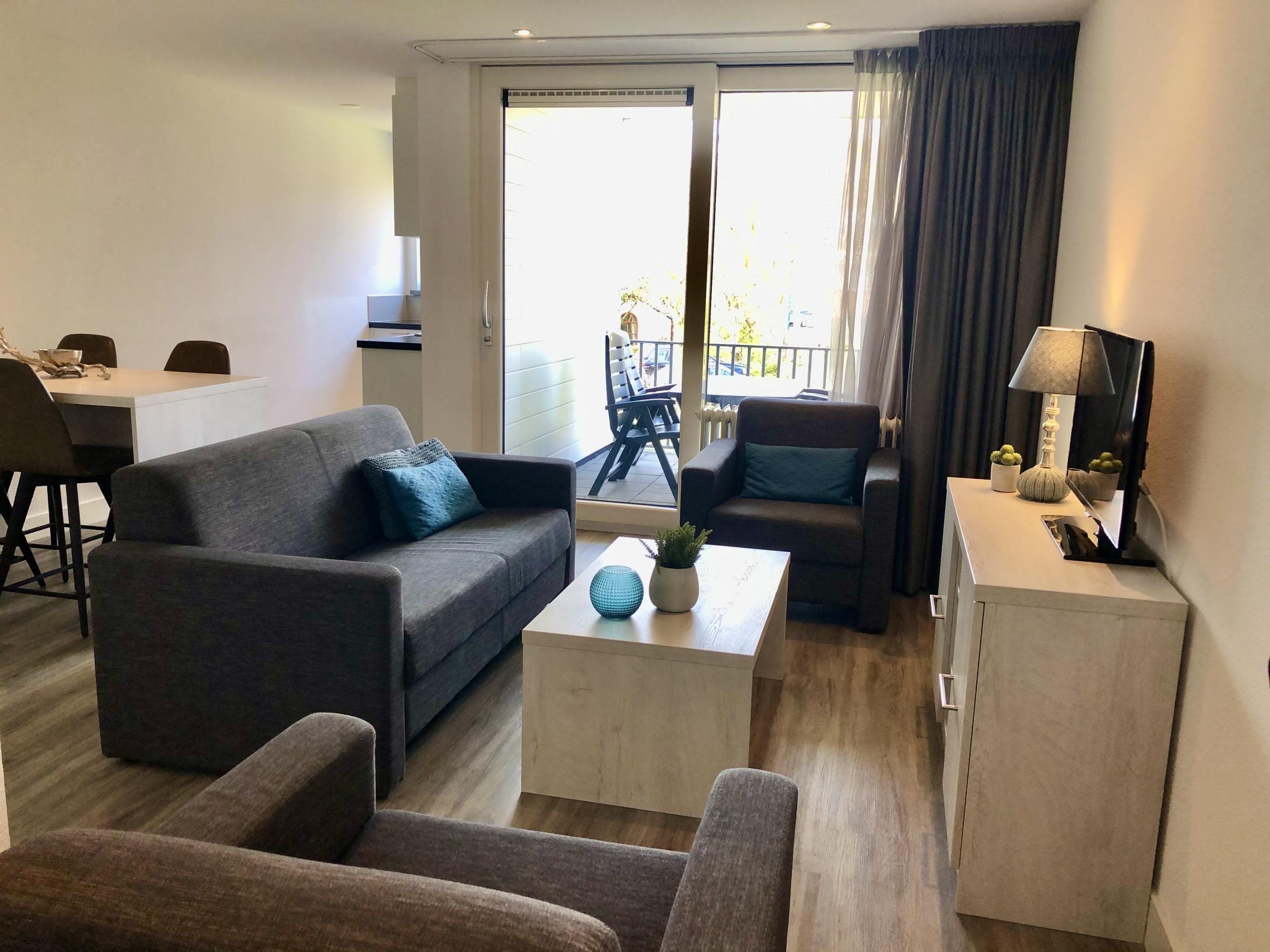 Geräumige, neue und voll möblierte Wohnung im Zentrum von De Koog