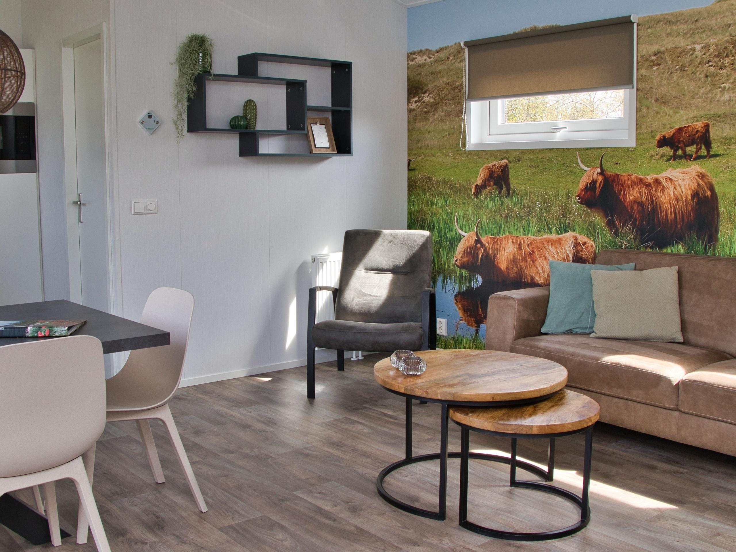 Modernes stilvoll eingerichtetes Mobilheim am Rand vom Wald De Dennen