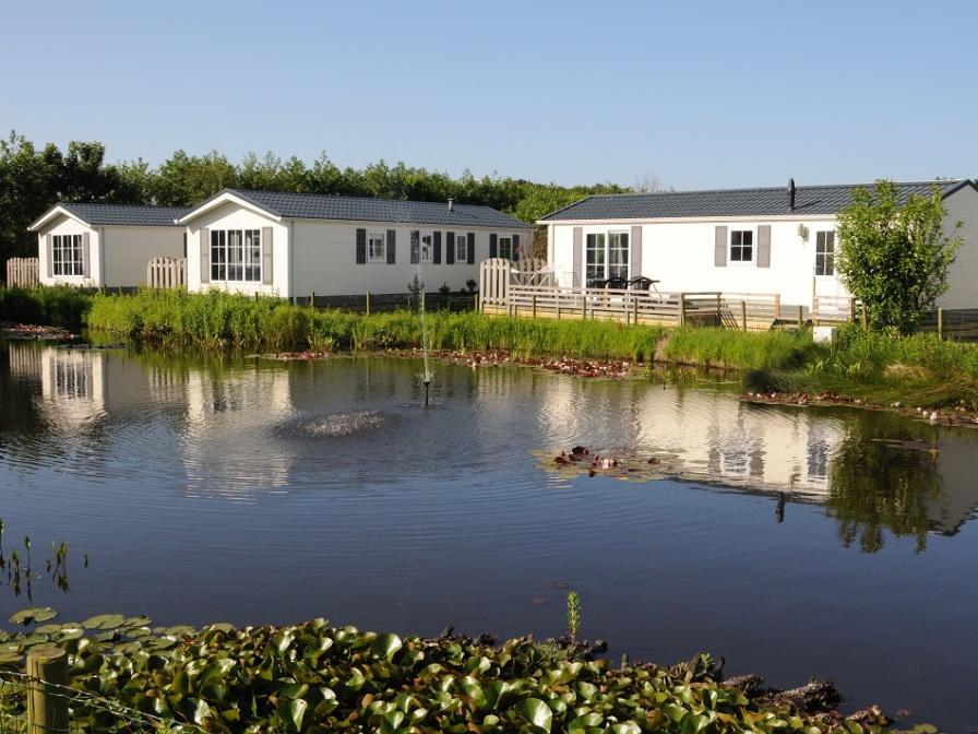 Komfortables modernes Mobilheim nahe Nordseestrand im Wald De Dennen